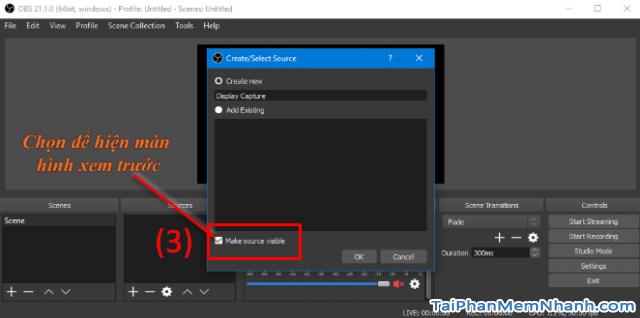 Cách sử dụng phần mềm OBS Studio để quay màn hình máy tính + Hình 9