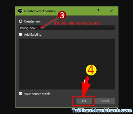 Cách tạo dòng chữ chạy khi quay màn hình bằng phần mềm OBS Studio + Hình 8
