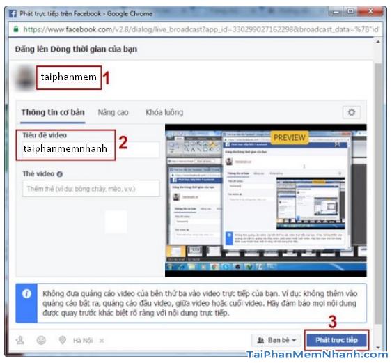 Cách phát Live Stream Liên Minh Huyền Thoại lên Facebook với OBS Studio + Hình 16