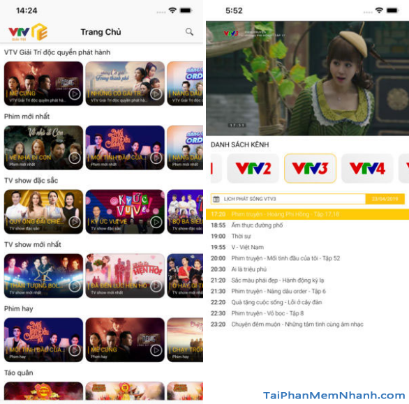 Tải ứng dụng VTV Giải trí cho điện thoại iPhone, iPad + Hình 2