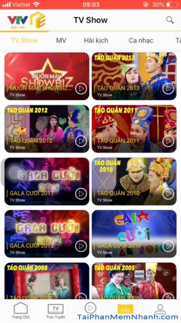 Tải ứng dụng VTV Giải trí cho điện thoại iPhone, iPad + Hình 23