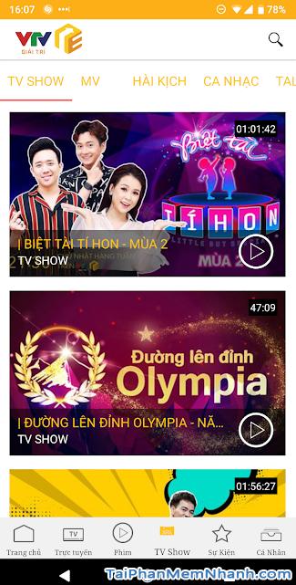 Download VTV Giải Trí - Ứng dụng xem truyền hình online trên Android + Hình 2