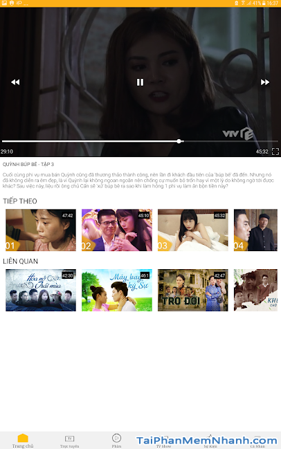 Download VTV Giải Trí - Ứng dụng xem truyền hình online trên Android + Hình 4