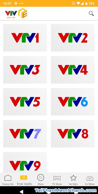 Download VTV Giải Trí - Ứng dụng xem truyền hình online trên Android + Hình 5