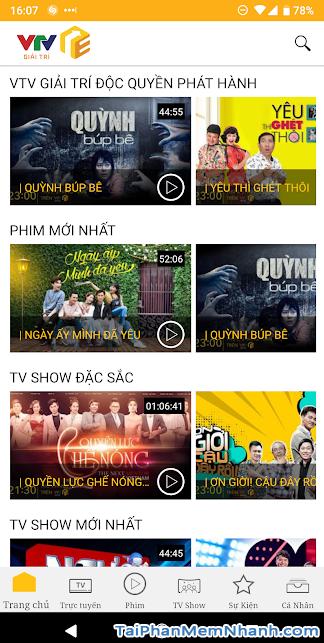 Download VTV Giải Trí - Ứng dụng xem truyền hình online trên Android + Hình 6