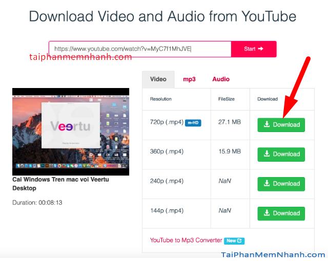 Các cách tải Video, Audio từ YouTube về máy tính MAC + Hình 23