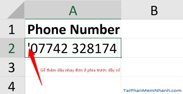 3 Cách nhập dãy số bắt đầu bằng chữ số 0 trên Microsoft Excel + Hình 3