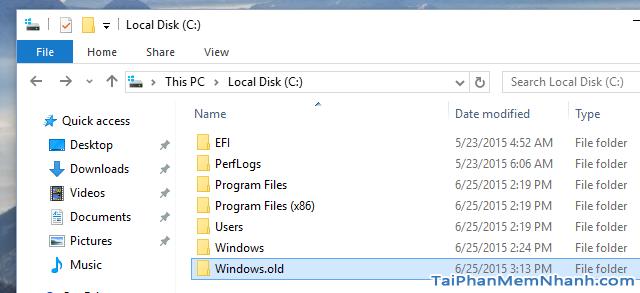 Hướng dẫn xóa thực mục Windows.old Windows 7, 8, 8.1, 10 + Hình 3