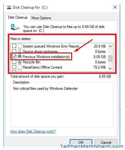 Hướng dẫn xóa thực mục Windows.old Windows 7, 8, 8.1, 10 + Hình 7