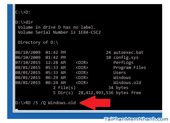Hướng dẫn xóa thực mục Windows.old Windows 7, 8, 8.1, 10 + Hình 25
