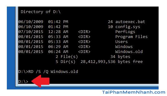 Hướng dẫn xóa thực mục Windows.old Windows 7, 8, 8.1, 10 + Hình 26