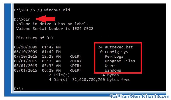 Hướng dẫn xóa thực mục Windows.old Windows 7, 8, 8.1, 10 + Hình 27