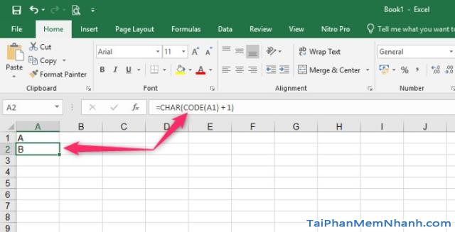 Hướng dẫn tự động điền ký tự từ A – Z trên Excel thông qua công thức + Hình 5
