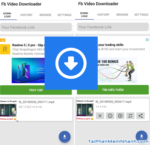 tải video facebook bằng fb video downloader