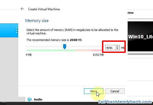 cài đặt dung lượng RAM cho máy ảo Mac OS