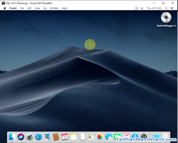 Cài MAC OS X trên Windows với VirtualBox