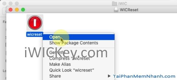 cài đặt wicreset trên mac os x