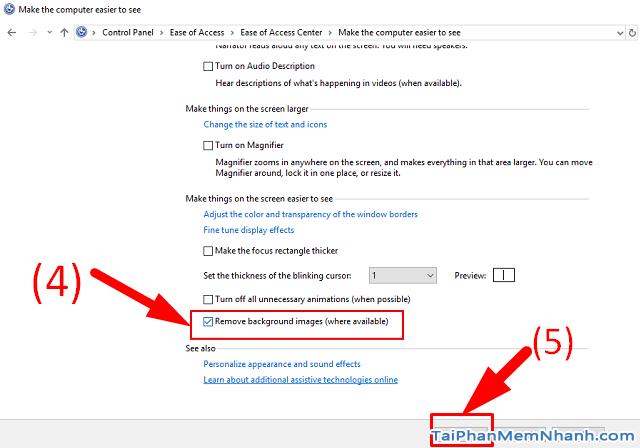 2 Cách Bật - Tắt hình nền desktop trong Windows 10 + Hình 6