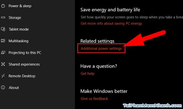 Hướng dẫn BẬT - TẮT chế độ Sleep trên Windows 10 + Hình 7