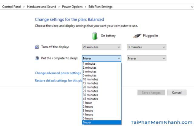Hướng dẫn BẬT - TẮT chế độ Sleep trên Windows 10 + Hình 9
