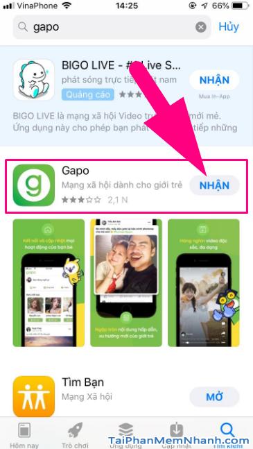 Tải và cài đặt Mạng xã hội Gapo cho điện thoại iPhone, iPad + Hình 15