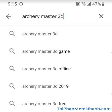 tìm game bắn cung archery master 3d