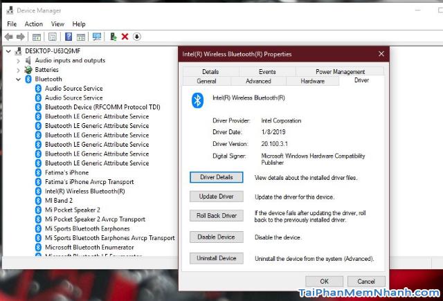 Khắc phục lỗi Bluetooth bị mất sau khi Update Windows 10 + Hình 2