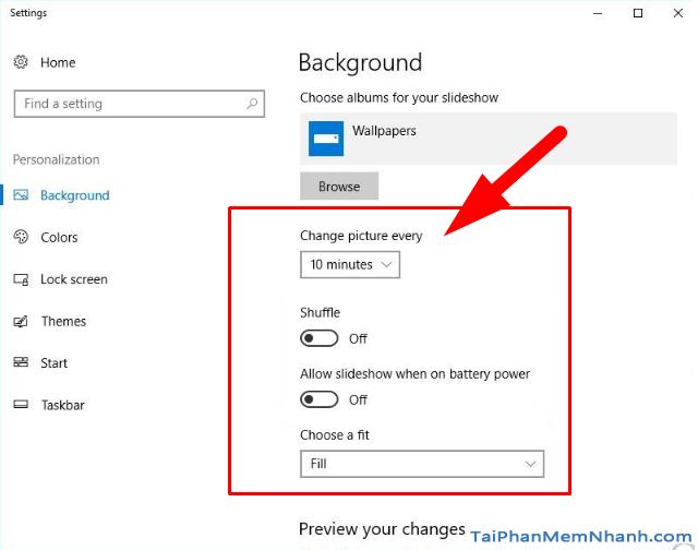 Hướng dẫn hẹn giờ đổi ảnh nền Windows 10 cho người mới + Hình 14