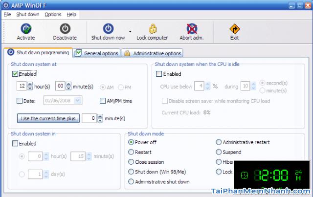 TOP 5 phần mềm hẹn giờ tắt máy tính chạy Windows 10 + Hình 6