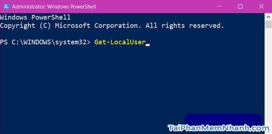 Hướng dẫn sử dụng PowerShell đổi mật khẩu Windows 10 + Hình 4
