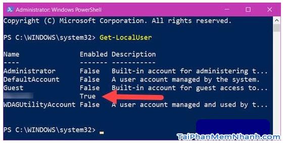 Hướng dẫn sử dụng PowerShell đổi mật khẩu Windows 10 + Hình 5