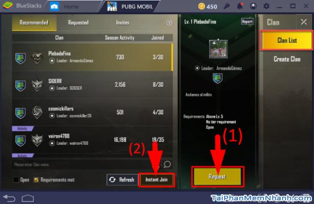 Cách mời bạn bè tham gia Clan trong game PUBG Mobile + Hình 7