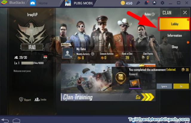Cách mời bạn bè tham gia Clan trong game PUBG Mobile + Hình 9