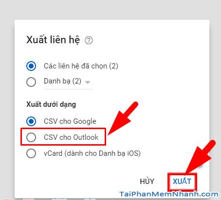 Hướng dẫn cách Xuất danh bạ từ Google Gmail + Hình 6