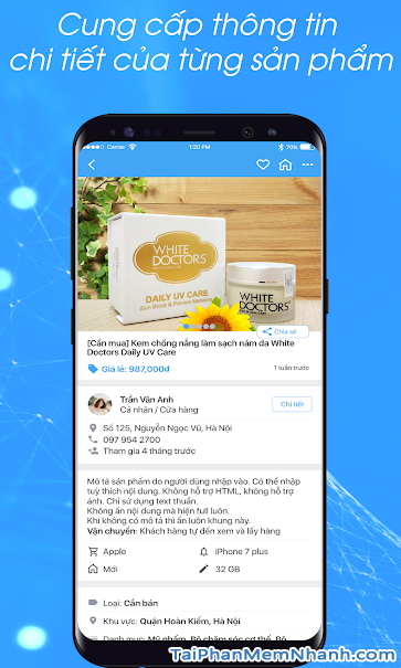 Tải phần mềm đọc mã vạch Barcode Việt cho điện thoại Android + Hình 4