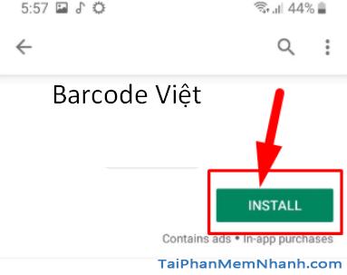 Tải phần mềm đọc mã vạch Barcode Việt cho điện thoại Android + Hình 9