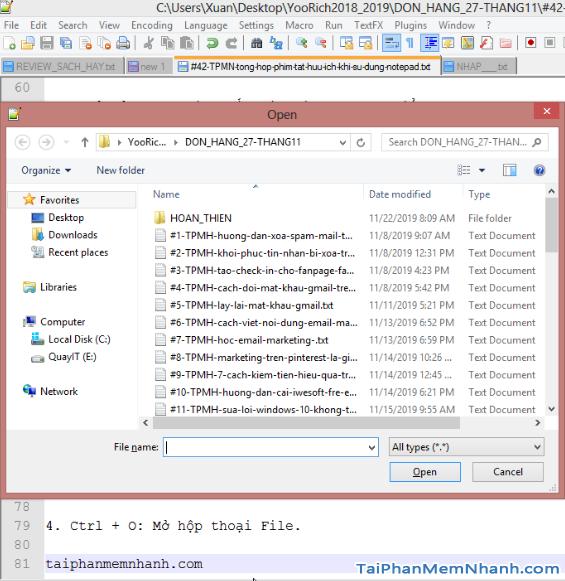 Notepad++ : Những tổ hợp phím tắt hữu ích bạn cần biết + Hình 11