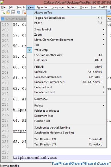 Notepad++ : Những tổ hợp phím tắt hữu ích bạn cần biết + Hình 21