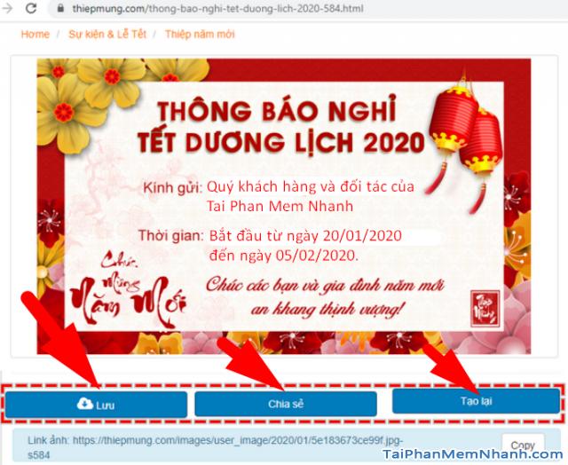 Hướng dẫn tạo banner thông báo nghỉ Tết 2020 trực tuyến + Hình 5