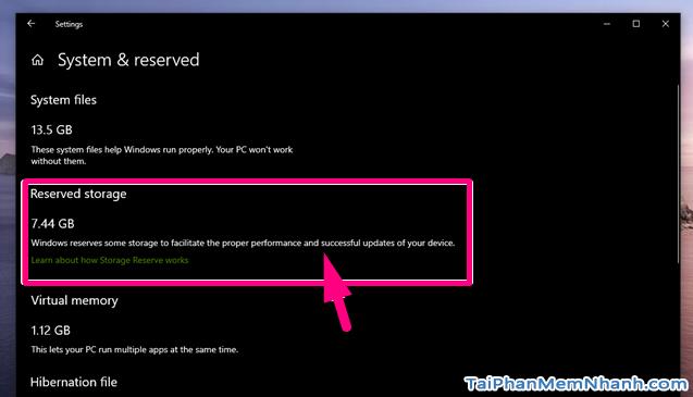 Reserved Storage là gì? Nên vô hiệu hóa Reserved Storage không? + Hình 7