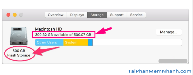 Hướng dẫn kiểm tra dung lượng ổ cứng máy tính Macbook + Hình 5