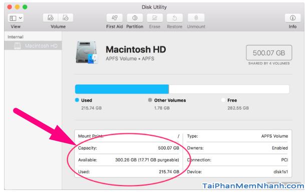 Hướng dẫn kiểm tra dung lượng ổ cứng máy tính Macbook + Hình 8
