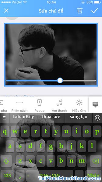 Đặt ảnh cá nhân làm giao diện bàn phím Android và iOS + Hình 25