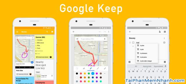 Tải cài đặt ứng dụng ghi chú Google Keep cho Android + Hình 2