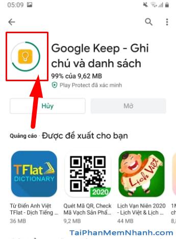 Tải cài đặt ứng dụng ghi chú Google Keep cho Android + Hình 9