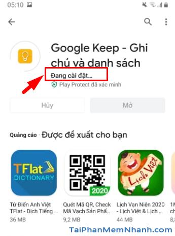 Tải cài đặt ứng dụng ghi chú Google Keep cho Android + Hình 10