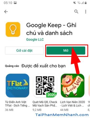 Tải cài đặt ứng dụng ghi chú Google Keep cho Android + Hình 11