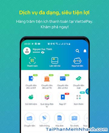 Tải cài đặt ứng dụng ViettelPay cho điện thoại Android + Hình 4