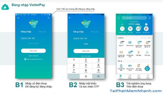 Hướng dẫn sử dụng App ViettelPay để thực hiện các giao dịch + Hình 7