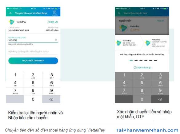 Hướng dẫn sử dụng App ViettelPay để thực hiện các giao dịch + Hình 15